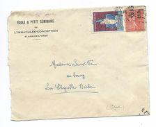 ENVELOPPE PUBLICITAIRE De 1931 .. ECOLE Et PETIT SEMINAIRE De L'IMMACULEE CONCEPTION De FLERS De L'ORNE (61) - France