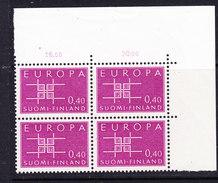 Europa Cept 1963 Finland 1v Bl Of 4  (corner)  ** Mnh (CO326) - Europa-CEPT