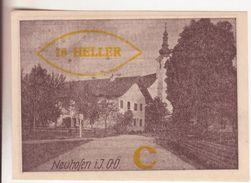 77-Banconote-Carta Moneta Di Emergenza-NOTGELD-Austria-Osterraich-Emergency Money-10 Heller-1920-serie C Soprastampa Oro - Autriche