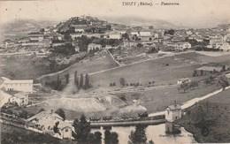 Rhône - TIZY - Panorama - Train En Marche - Thizy