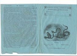Le Crotale Serpents Peptiles Protège-cahier Couverture 195 X 150 Mm  Etat Passable Mais RR. - Enfants