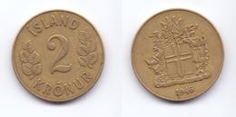 Iceland 2 Kronur 1946 - Island