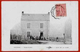 CPA 08 CHEMERY Ardennes - CAFE De La GARE - DECOMBIS Horlogerie (cachet Ambulant Raucourt à Sedan)° A. Fortant - Autres Communes