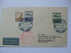 Germany 1936 - Zeppelin Cover To Rio De Janeiro - Hindenburg - Allemagne