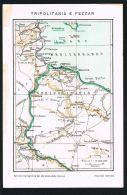 LYBIE -  TRIPOLITANA E FEZZAN - Carte Géographique - Edition Italienne  Paypal Sans Frais - Libye