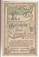 97-Banconote-Carta Moneta Di Emergenza-NOTGELD-Austria-Osterraich-Emergency Money-10 Heller-1920 - Autriche