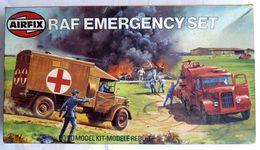 AIRFIX BOITE RAF EMERGENCY SET 1980 - FIGURINE WWII Boîte Presque Vide Pour Pièces Boite Et Notice - Figurines