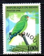 BENIN. N°710CP Oblitéré De 1996. Amazone De Porto Rico. - Perroquets & Tropicaux