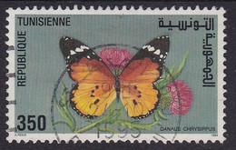 Tunesien 1994 Mi-Nr. 1296, Schmetterling Gestempelt Siehe Scan - Tunesien (1956-...)