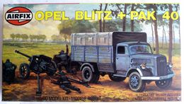 RARE MAQUETTE AIRFIX BOITE OPEL BLITZ & PAK 40 1981 FIGURINE WWII - Figurines
