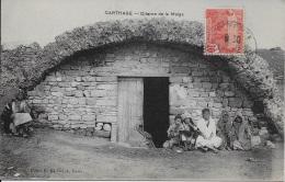 Carthage - Citerne De La Malga ** Belle Cpa Animée écrite En 1912  ** Dos Divisé- Ed Eld (le Deley) - Tunisie