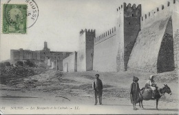 Sousse - Remparts De La Casbah ** Belle Cpa Animée écrite En 1902  ** Dos Divisé- Ed LL - Tunisia