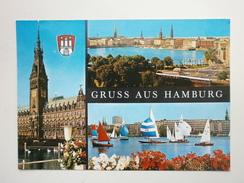 Postcard Gruss Aus Hamburg Multiview  Postally Used 1984  My Ref B21563 - Greetings From...