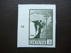 Definitive Issue.Angel And Map. Lietuva Litauen Lituanie Litouwen Lithuania 1990 MNH # Mi.457 B - Lituanie
