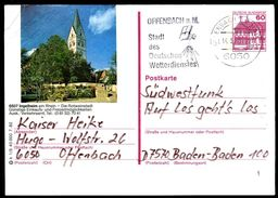81414) BRD - P 138 - K1/5 - OO Gestempelt - 6507 Ingelheim, Kirche - Geïllustreerde Postkaarten - Gebruikt