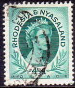 RHODESIA & NYASALAND 1954 SG #6 4½d Used - Rhodesia & Nyasaland (1954-1963)