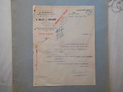 EPINAL U. ENGONIN ANCIENNE MAISON A. MARBACH COMMISSIONNAIRE EN FECULES 21 RUE DE LA GARE COURRIER DU 20 MAI 1920 - France