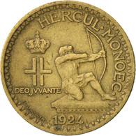 Monaco, Louis II, Franc, 1924, Poissy, TTB, Aluminum-Bronze, KM:111,GadouryMC127 - Monaco