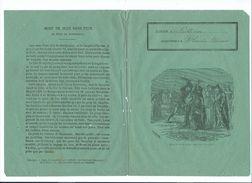 Mort De Jean Sans Peur Protège-cahier Couverture 195 X 150 Mm   Etat Passable Mais RR. Limoges Imp.Chapoulaud - Kids