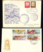 CHILE AND URUGUAY 2  ANTARCTIC POLAR EXPLORATION SCIENCE MILITARY SHIP COVERS - Stamps