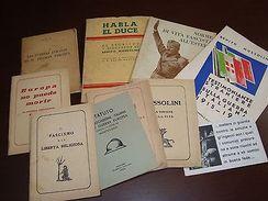 MILITAR ITALY VINTAGE ORIGINAL FASCISMO MUSSOLINI 9 BOOK RECUITMENT DOCTRIN WWII - Army & War