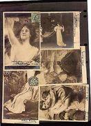STUNNING LOT 22 VINTAGE CA 1900 POSTCARDS ART COLOR LITHO LOUVRE SALON PARIS - Fine Arts