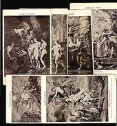 PETER PAUL RUBENS MUSE DU LOUVRE SET OF 20 VINTAGE CA 1900 POSTCARDS NUDES ART - Fine Arts