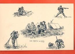 EAP-16 Une Partie De Yass Au Tessin, Cartes Tentes. Militaire. Tessin 1916-17. Dessin De Brélaz - TI Ticino