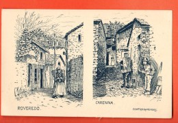 EAP-20 Roveredo Femme, Carenna Contrebandiers.   Tessin 1916-17. Dessin De Brélaz - TI Ticino
