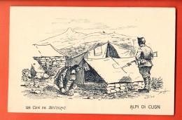 EAP-23  Militaires. Alpi Di Cugn. Un Coin De Bivouac, Tentes. Tessin 1916-17. Dessin De Brélaz - TI Ticino