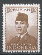 Indonesia 1953, Scott #389 (MNG) President Sukarno, Président - Indonésie
