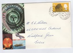 1966 FDC CDS ILFORD  Jordell Bank Radio Telescope Stamps Cover GB - FDC