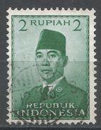 Indonesia 1951. Scott #390 (U) President Sukarno, Président - Indonésie
