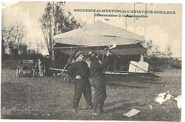 CP 342  CPA Souvenir Du Meeting De L'Aviateur Guillaux-Observation De L'Anémomètre - Frankrijk