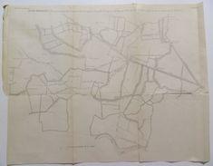 MAPPA IDROGRAFICA _ Consorzio GORZON E FRATTESINA _ Frassine _ Veneto Metà '800 _ OPERA DI BONIFICA - Mappe