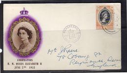 Nyasaland Coronation FDC 1953 (bg114) - Groot-Brittannië (oude Kolonies En Protectoraten)