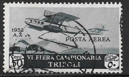 Libya, Scott # C4 Used Plane Over Bedouin Camp, 1932 - Libya