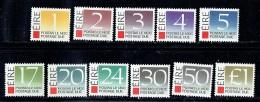 1988  Postage Due Set Of 11  MNH ** - Segnatasse