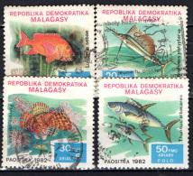 MADAGASCAR - 1982 - PESCI - FISHES - USATI - Madagascar (1960-...)