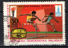 MADAGASCAR - 1980 - OLIMPIADI DI MOSCA - USATO - Madagascar (1960-...)