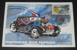 Carte Maximum  1er Jour  09/04/1994 N° 2876 HOMMAGE AU MAQUIS - Cartes-Maximum