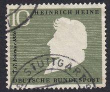 GERMANIA - GERMANY - DEUTSCHLAND - ALLEMAGNE - 1956 - Yvert 103, Usato, Oliva E Nero, 10 P. - BRD
