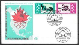FDC 1976 Germany, Montreal Olympics, Bonn, 6-4-1976 - Summer 1976: Montreal