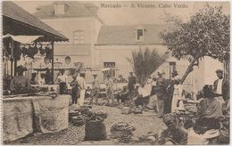 Postal Cabo Verde - Cape Verde - Ilha De S. Vicente - Mercado - Carte Postale - Postcard - Cape Verde
