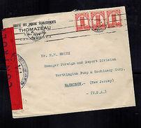 1944 Casablanca Morocco Censored Commercial Cover To USA - Morocco (1956-...)