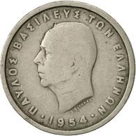 Grèce, Paul I, 2 Drachmai, 1954, TB, Copper-nickel, KM:82 - Grèce