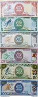 O) 2006 TRINIDAD AND TOBAGO, COMPLETE SERIES DOLLARS - ISO 4217 -TTD, BIRDS, UNC, PAPER MONEY - Trinidad & Tobago