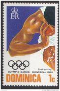 479 Dominica 1976 Olimpiadi Lancio Del Peso Used - Pesistica
