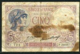 250-France Billet De 5 Francs 1928 Y P36087 - 1871-1952 Circulated During XXth
