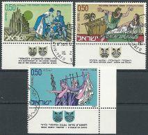 ISRAEL 1971 MI-NR. 495/97 O Used - Aus ABO - Usati (con Tab)